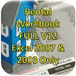 Rental Workbook V12 FULL Version for Excel 2007 or 2003